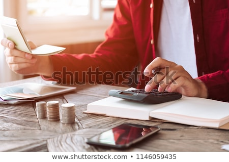 Dochód rachunek finansowych pracy proces górę Zdjęcia stock © makyzz