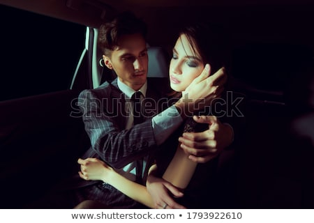 Fashionable beautiful young girlfriends together at the autumn p Stock photo © dashapetrenko