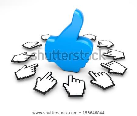Curseur main comme bouton 3D rendu 3d Photo stock © djmilic