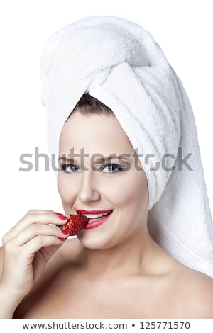 Beauty, spa. Attractive woman with beautiful face. Beautiful girl with daily makeup, youth and skin  stock photo © serdechny