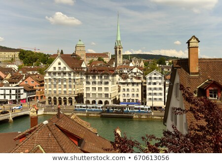 view with Predigerkirche tower, Zurich, Switzerland Stock photo © borisb17