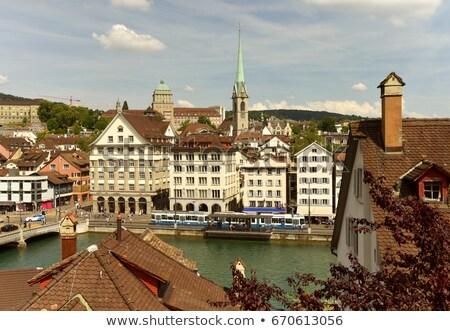 view with Predigerkirche tower, Zurich, Switzerland Stock photo © borisb17