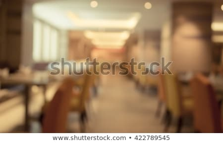 Stock photo: Empty Wooden Table And Blurred Background Of Abstract In Front O