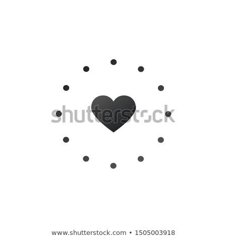 kalp · hedef · daire · ikon · dizayn · uzun - stok fotoğraf © kyryloff