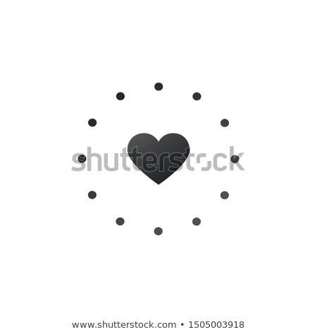 Kalp ikon noktalı daire imzalamak Stok fotoğraf © kyryloff