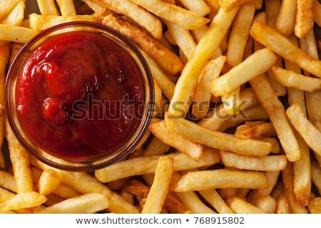 Appétissant frites françaises bol servi blanche céramique Photo stock © nito