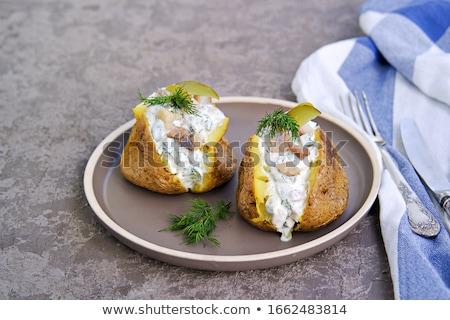 batatas · jantar · branco · comer - foto stock © tycoon