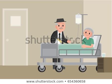 Oude dame medische kliniek vrouw mannelijke Stockfoto © Decorwithme