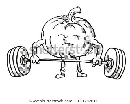 Sütőtök fallabda egészséges zöldség emel súlyzó Stock fotó © patrimonio