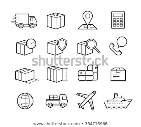 globe postal transportation company icon vector illustration stock photo © pikepicture