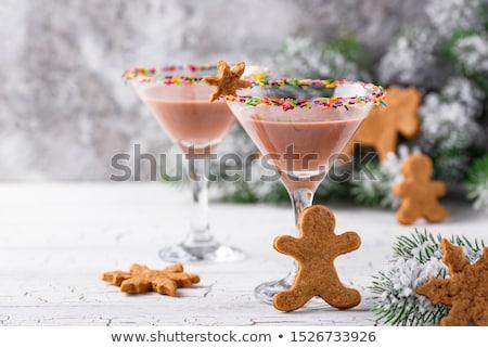 Sugar cookie martini with sprinkles rim Stock photo © furmanphoto
