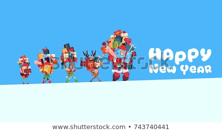 New Year Elf Character Holding Presents Vector Stock photo © robuart