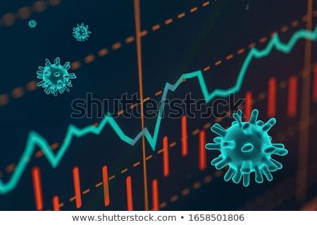 Beurs crash grafiek tonen vallen Stockfoto © solarseven