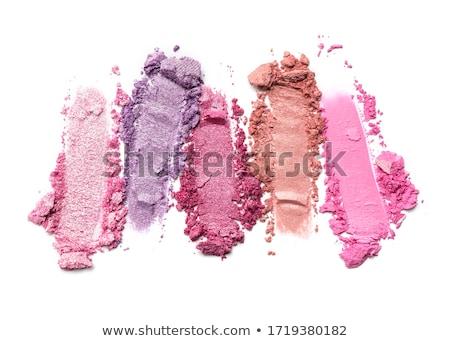 Crushed eyeshadows isolated on white background Stock photo © Anneleven