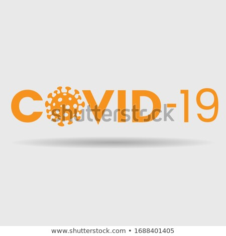 Abstract oranje coronavirus icon tekst illustratie Stockfoto © cidepix