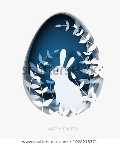 Konijn easter egg witte cartoon Easter Bunny paaseieren Stockfoto © liolle