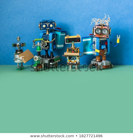 Robots Delivering Boxes and Orders for Clients Stock photo © robuart