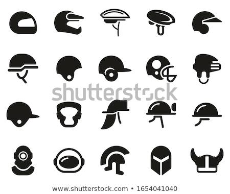 Bombeiro máscara capacete ícone ilustração Foto stock © pikepicture
