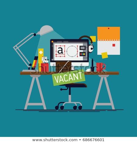 Emploi Creative bannière vecteur Photo stock © pikepicture