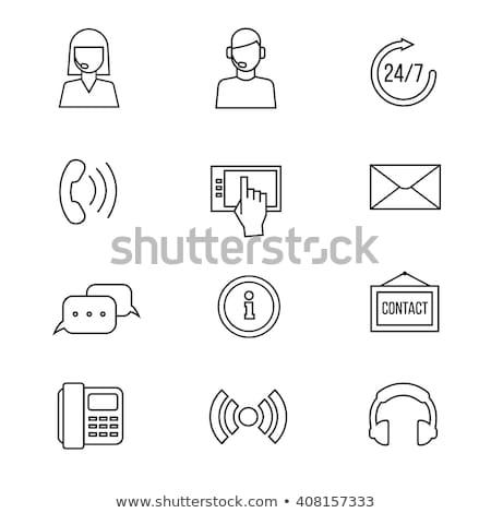 Yardım hattı ikon vektör örnek Stok fotoğraf © pikepicture
