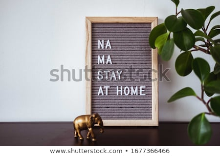 Texto aislamiento casa permanecer guardar coronavirus Foto stock © Maridav