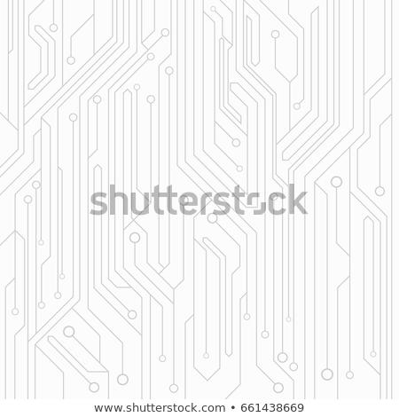 white technology circuit lines diagram background design Stock photo © SArts