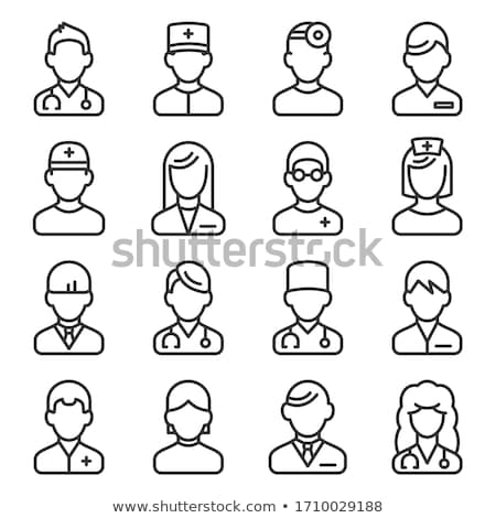 Medical professions line design style icons set Stock photo © Decorwithme