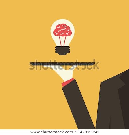Waiter serving business idea concept Stock photo © ra2studio