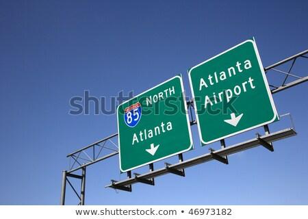 Gruzja znak autostrady wysoki graficzne Chmura Zdjęcia stock © kbuntu