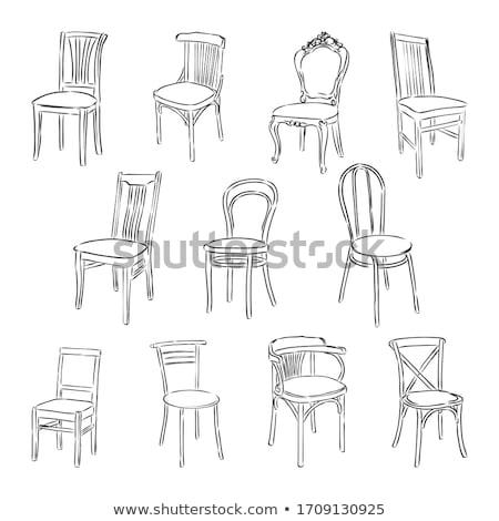 интерьер · желтый · Председатель · синий · кресло - Сток-фото © chrisroll