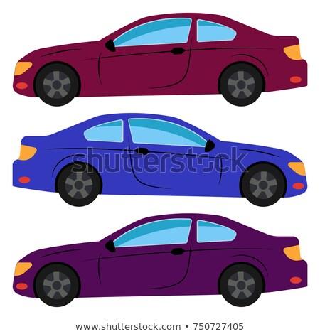 Három színes autók modern elöl oldal Stock fotó © cla78