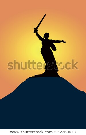 monument of Native land- mother in Volgograd Stock photo © Paha_L