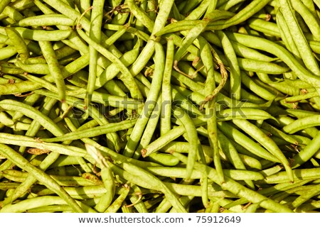 Many green beans (Phaseolus vulgaris L.) on a pile Stock photo © dacasdo