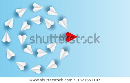 Fehér papír repülőgép stúdió fotózás izolált Stock fotó © prill