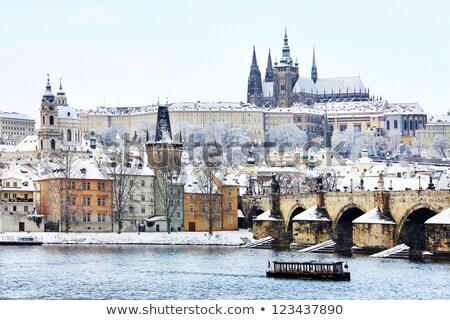 Stok fotoğraf: Hradcany In Winter Prague Czech Republic