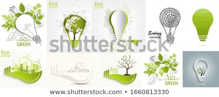 緑 生態学 車 ベクトル 花 芸術 ストックフォト © almoni