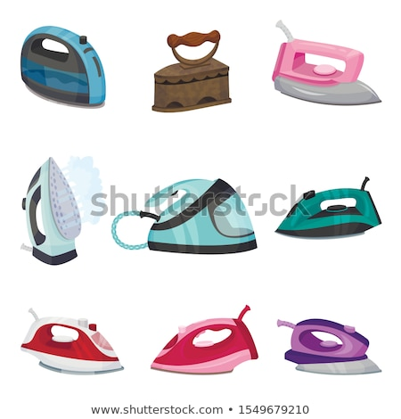 isolated green electronic iron for housework Stock photo © vichie81