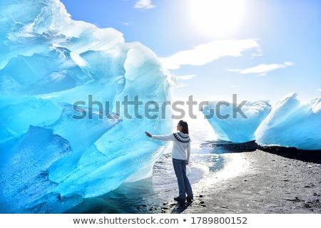 ледник льда воды природы озеро холодно Сток-фото © ivonnewierink