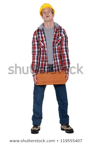 A roofer carrying tiles. Stock photo © photography33