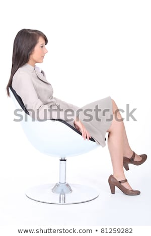 Timide demandeur attente fauteuil affaires femme Photo stock © photography33