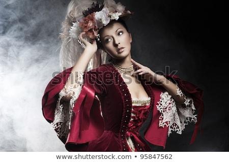 Delicate brunette posing Stock photo © konradbak