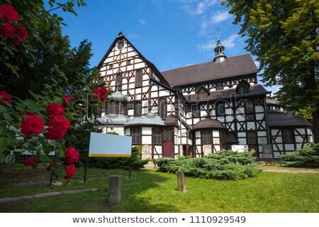 timbered church of swidnica silesia poland stock photo © phbcz