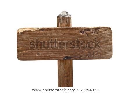 madeira · andar · maneira · assinar · blue · sky · céu - foto stock © artush
