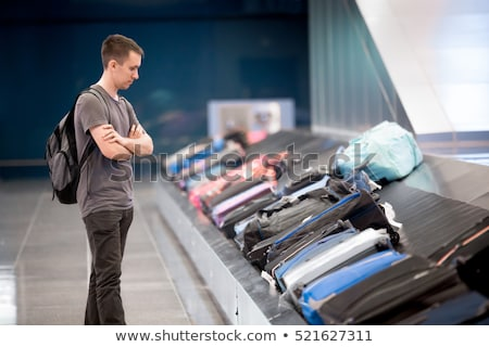 Luggage trolleys at a luggage claim area Stock photo © alex_l