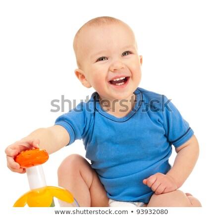 Jongen favoriet speelgoed geïsoleerd witte Stockfoto © pekour