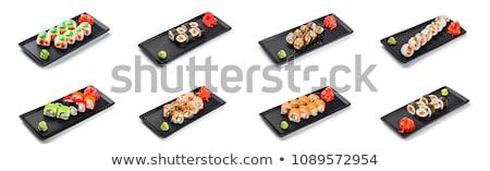 Plaka sashimi Japon restoran balık şef Stok fotoğraf © stuartmiles