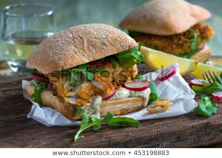 Fish sandwiches Stock photo © joker