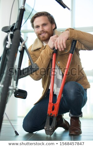 Man with pair of bolt cutters Stock photo © photography33