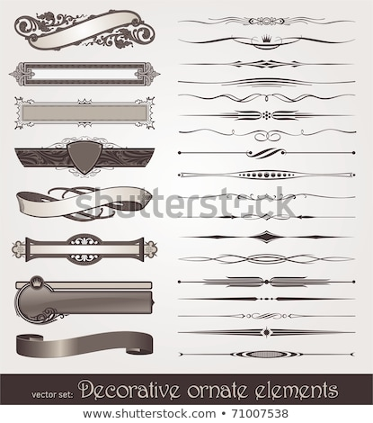 vector decorative design elements page decor frames banners stock photo © fotoscool