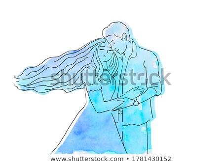 man and woman cuddling stock photo © ruslanomega